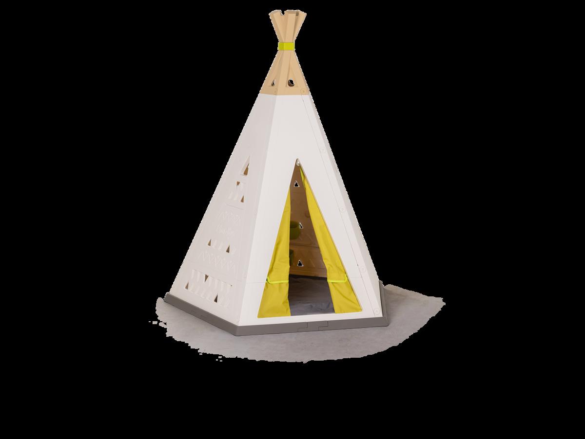 Sátor természetes Indoor&Outdoor Teepee Evolutive Smoby magasságilag állítható 159-184 cm textil függönnyel UV szűrő 2-8 éves gyerekeknek
